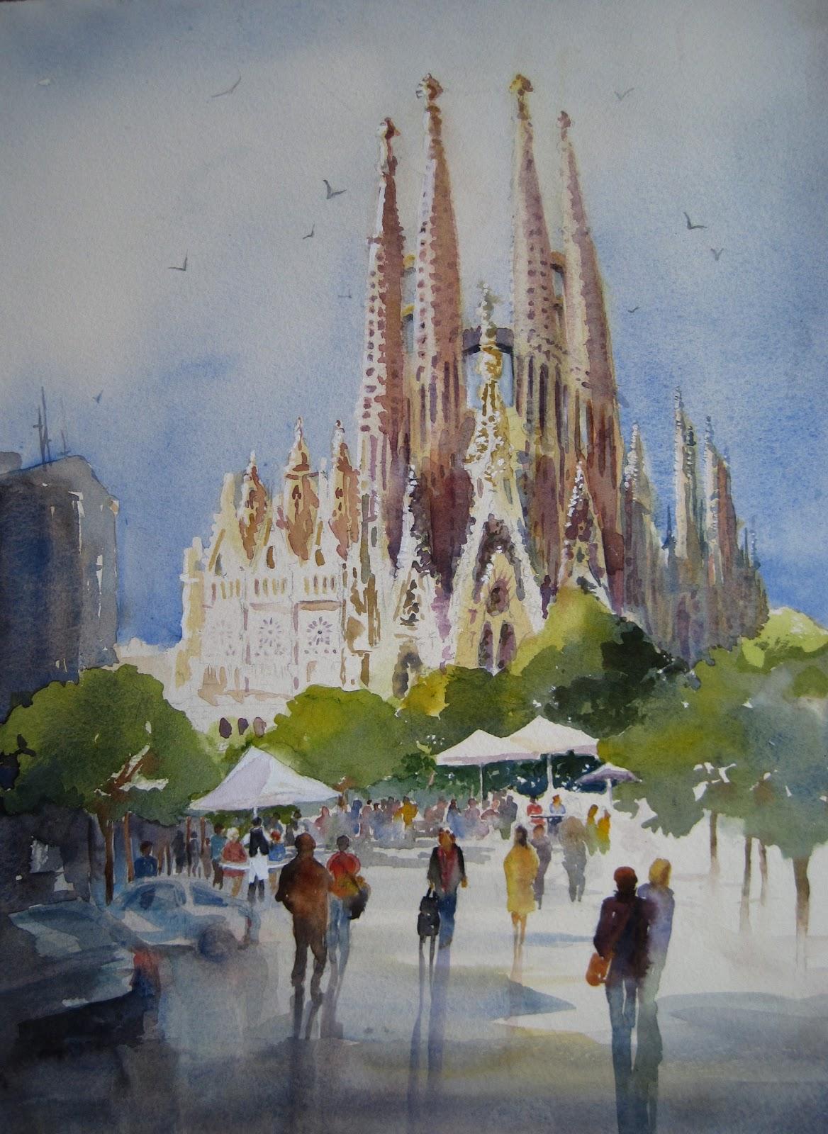Maureen Brookfield Sagrada Familia, Barcelona