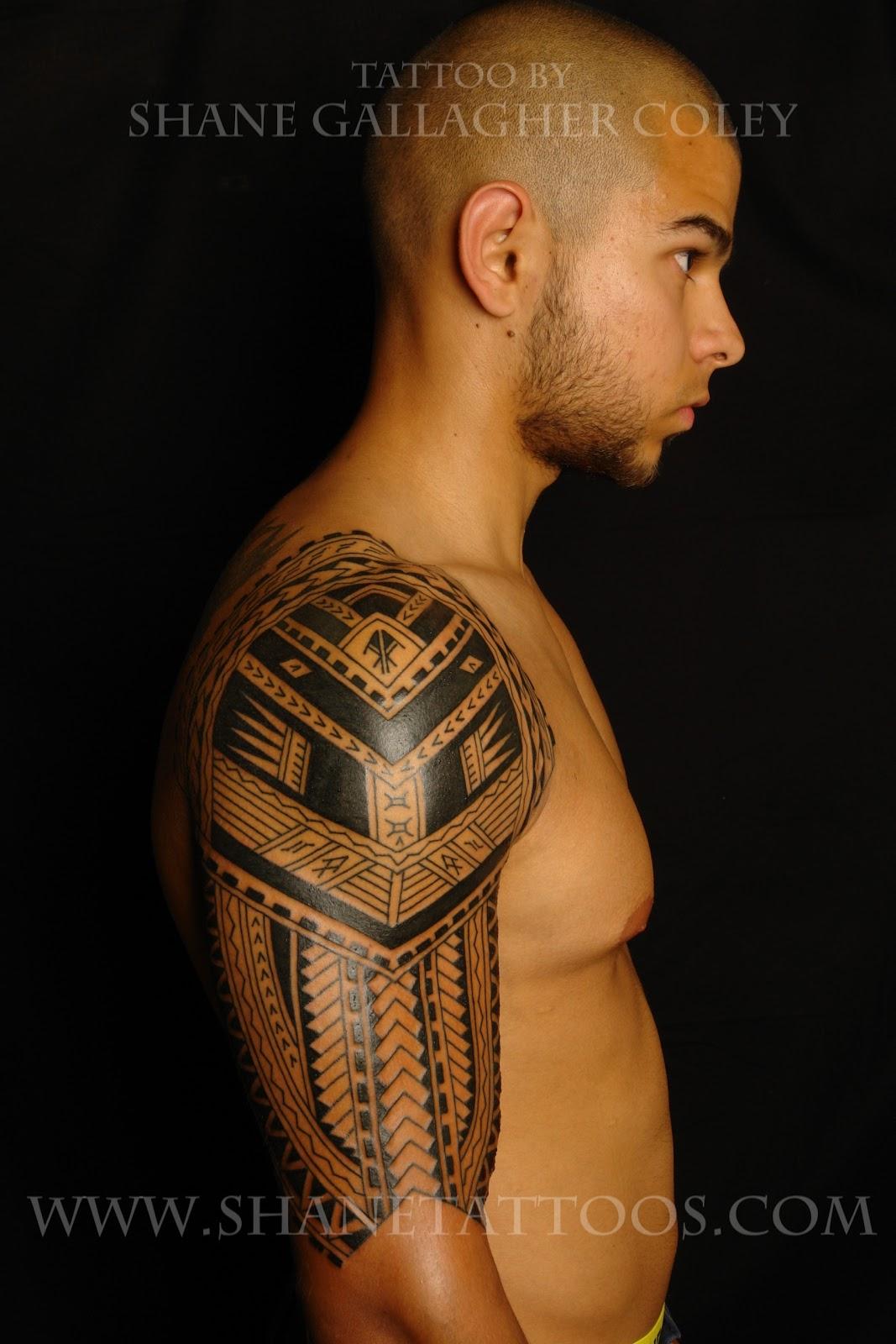 Polynesian/Samoan Sleeve Tattoo (in progress)