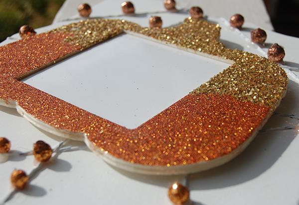 Upclose photo of thanksgiving diy dry erase board