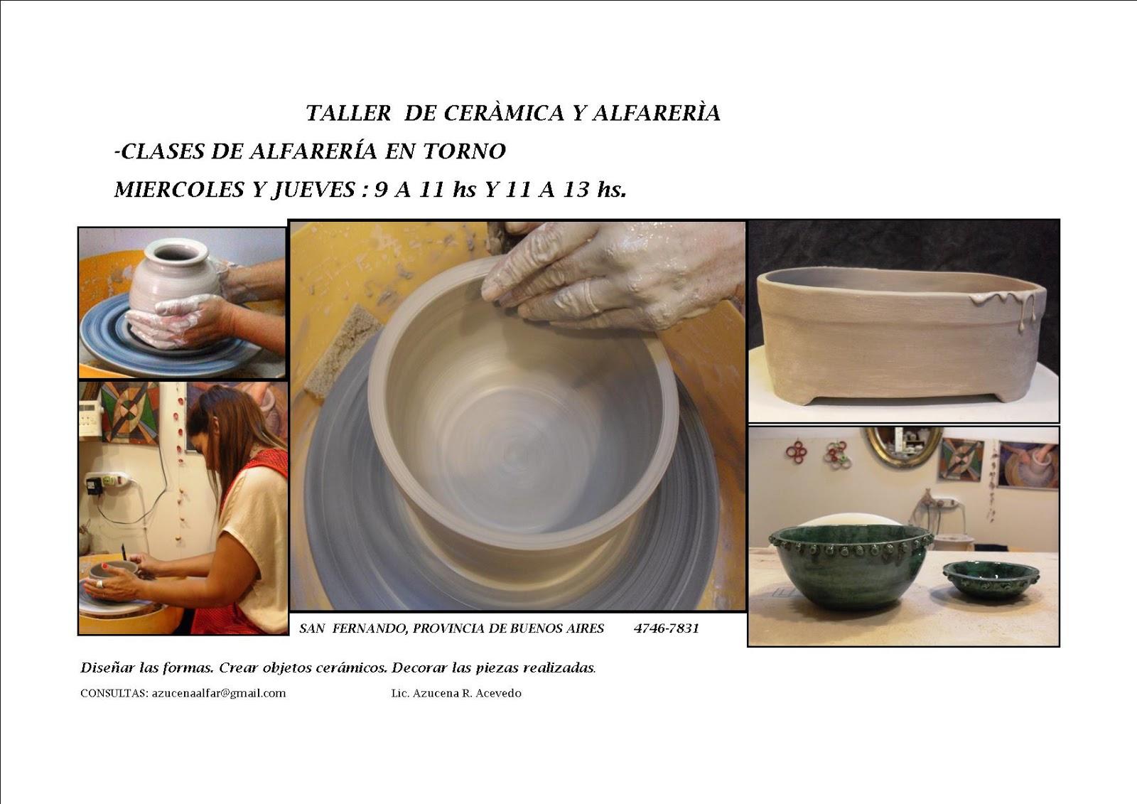 Ceramica azucena acevedo clases de cer mica y alfarer a for Ceramica buenos aires