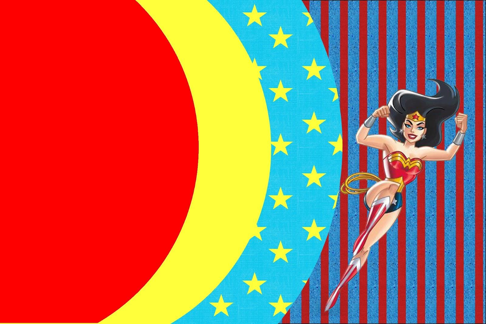 Wonder Woman Free Printable Invitations Oh My Fiesta