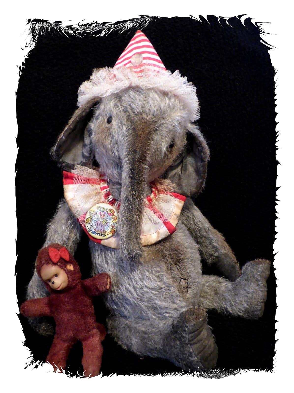 Gladys Mohair Elephant
