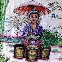 contoh lukisan bordir etnik