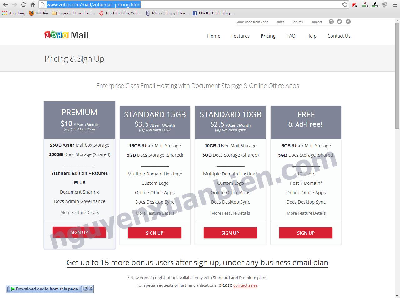 Giải pháp email miễn phí thay Google Apps và Outlook