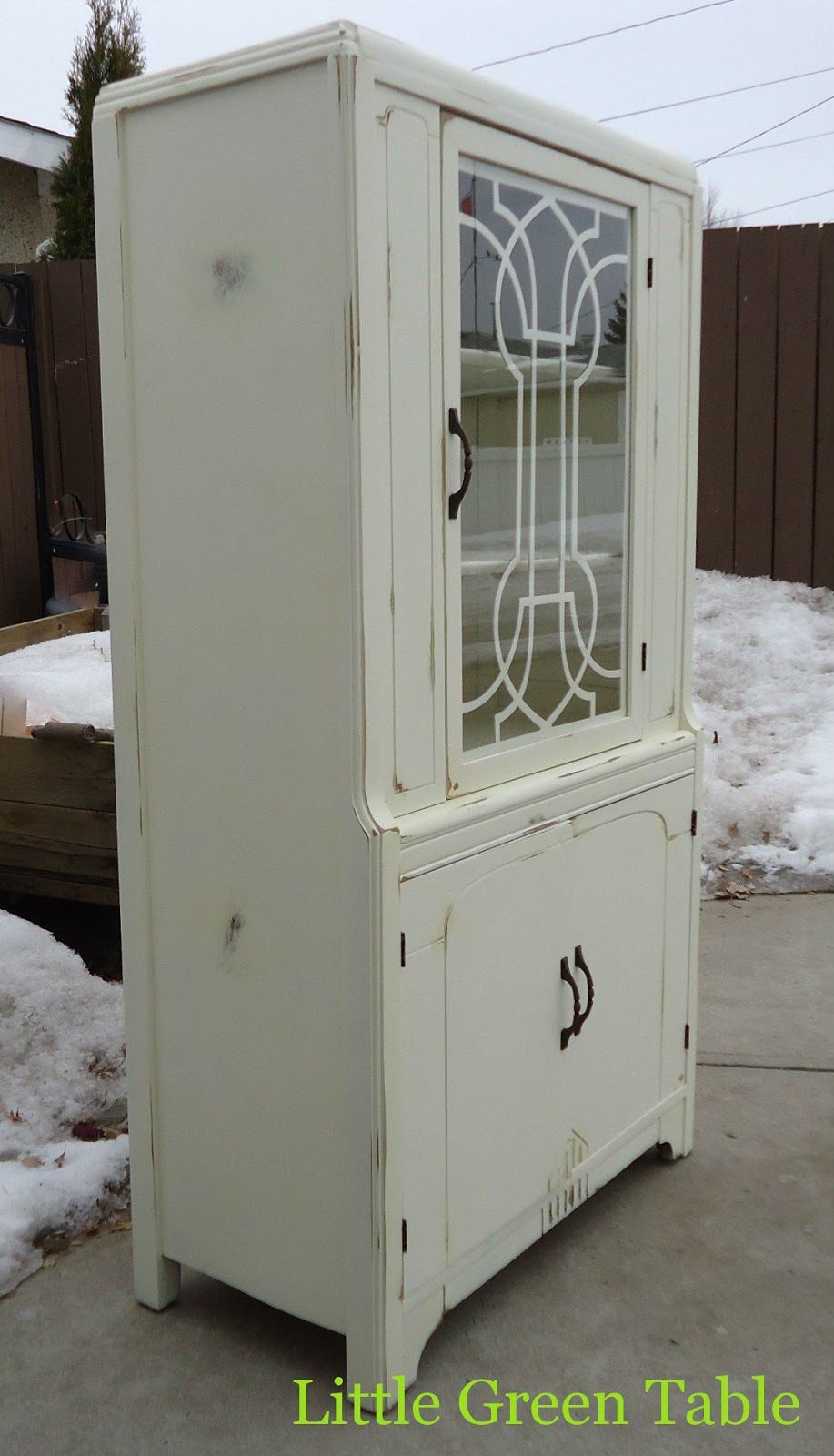 Antique China Cabinet | Little Green Table...