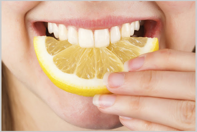 lemon for white teeth