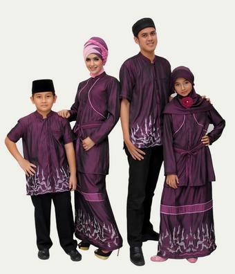 Koleksi Baju Couple Muslim Batik Keluarga Terbaru 2015
