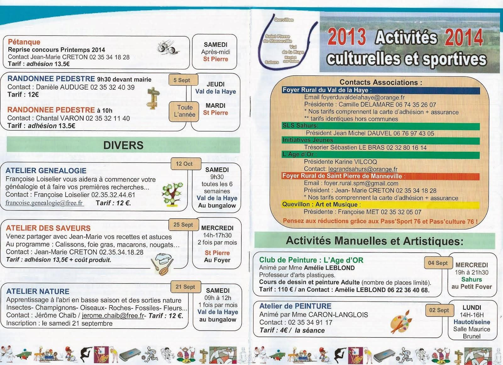 ACTIVITES 2013-2014
