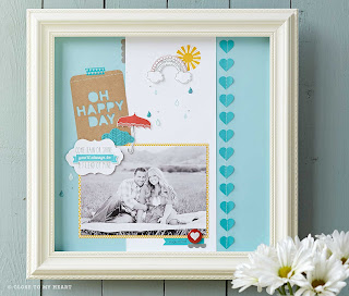 Rain or Shine CTMH Stamp Set Scrapbook Layout