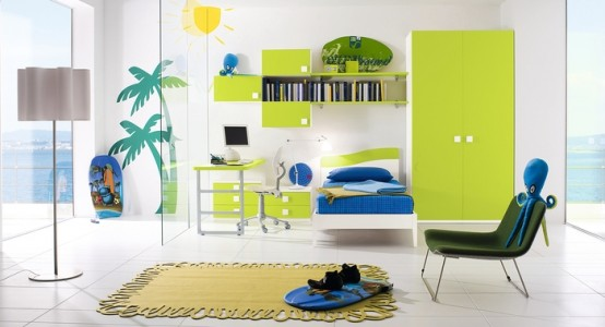 Patita cool kids bedroom for Cool blue bedroom ideas
