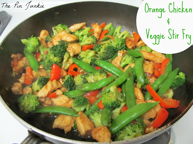 Orange Chicken Vegetable Stir Fry