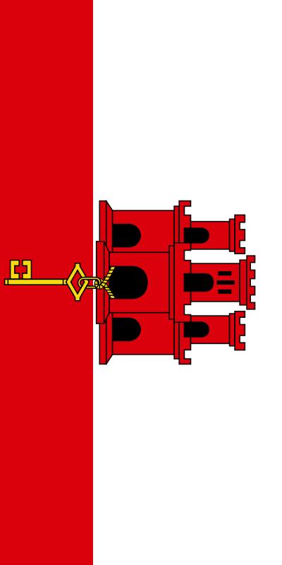 bandera de Gibraltar para imprimir
