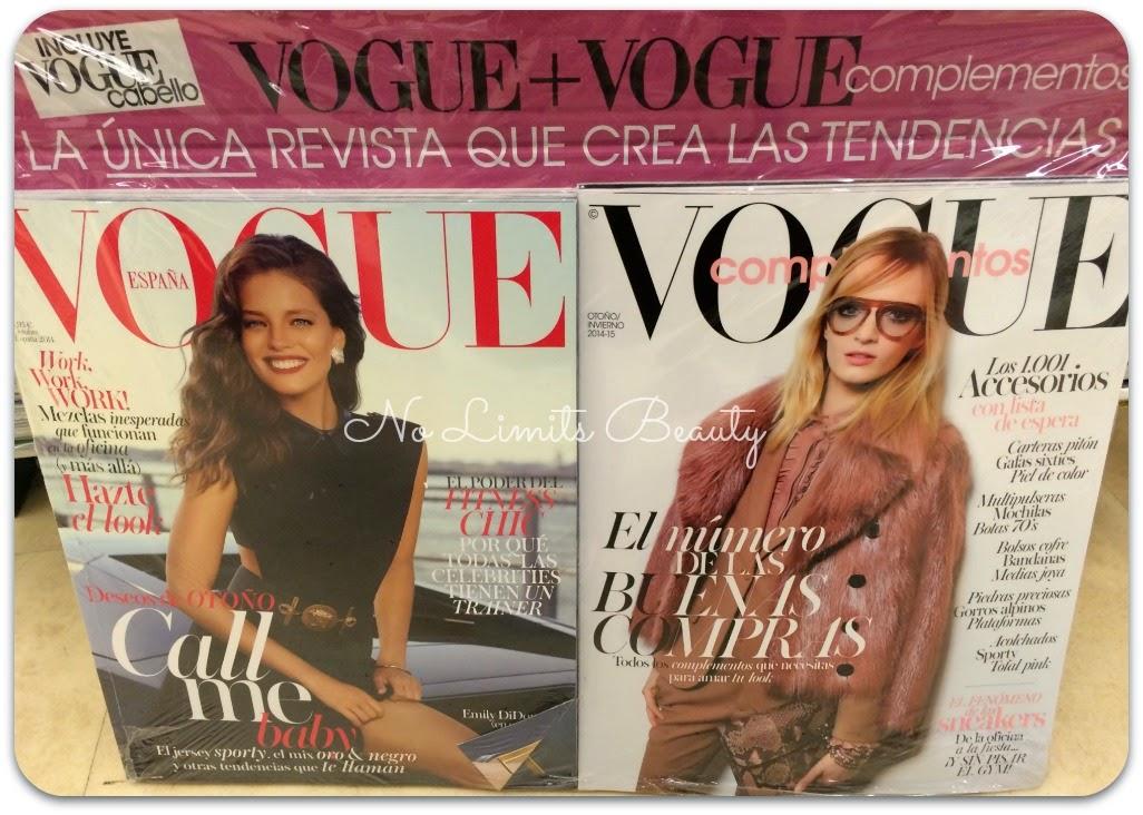 Regalos revistas Octubre 2014: Vogue