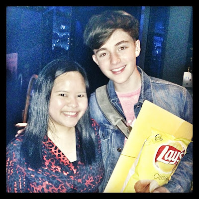 Greyson Chance is ALWAYS eating... Even in Manila Football