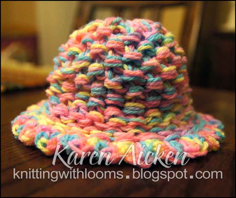 Loom Knit Baby Hat With Brim : Knitting with looms baby girl hat