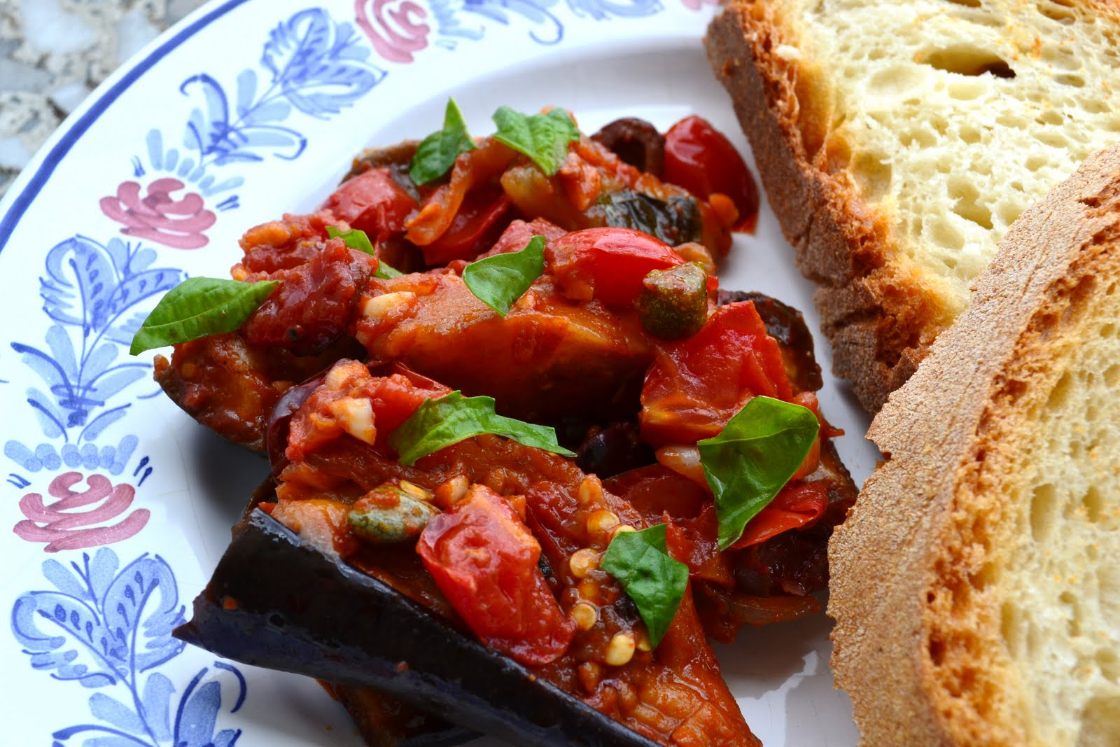 Nourish The RootsRoasted Eggplant with Tomatoes, Olives, Capers