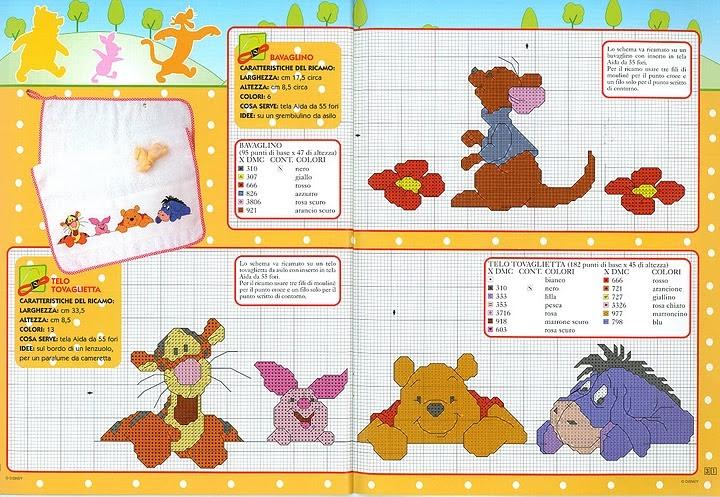 Punto croce winnie the pooh 4 for Punto croce disney winnie the pooh