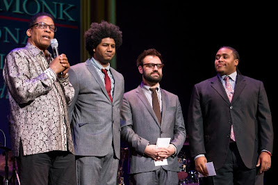 (right) as the winner of the 2012 Thelonious Monk International Jazz