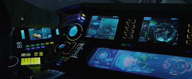 Console of Prometheus' recon ship