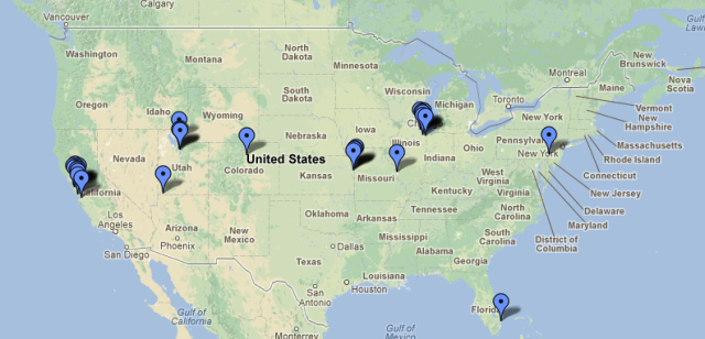 Show Us The Captions Map Of U S Locations As Of November 11 2012