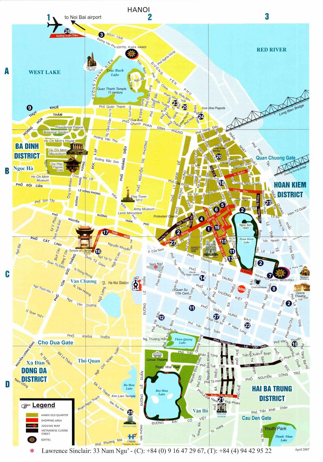 hanoi old quarter map pdf