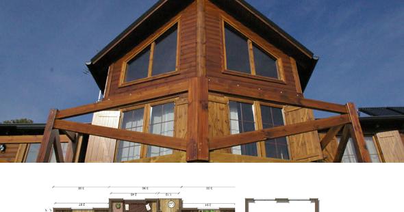 Casas de madera en espa a planos casas de madera 77 m2 - Casa de madera espana ...