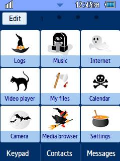 General Halloween 2 Samsung Corby 2 Theme Menu