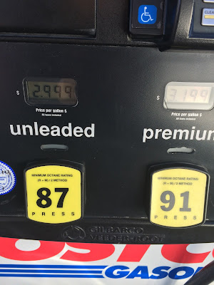 Costco gas for Apr. 27, 2015 at Redwood City, CA
