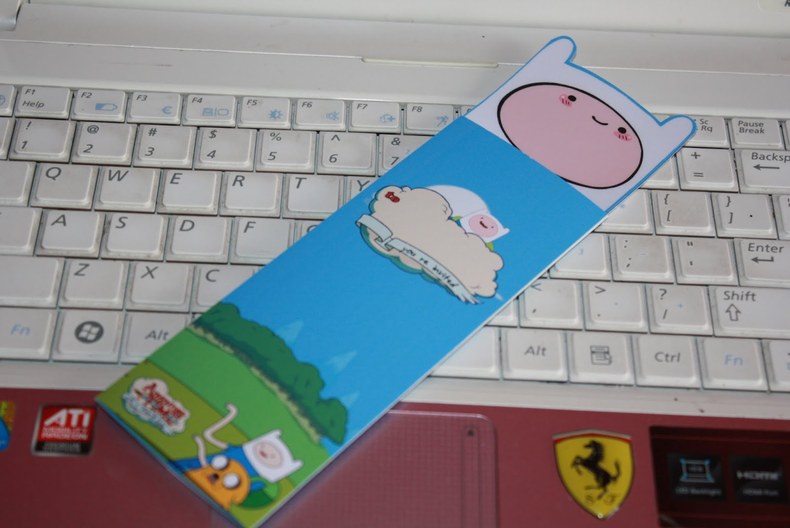 F1 Digital Scrapaholic Adventure Time with Finn and Jake Bookmark