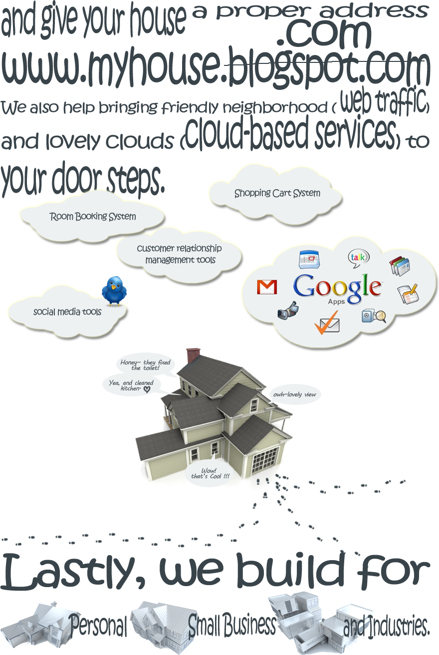 and give your house a .com and bring web traffic and cloud services to your door steps.