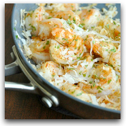 Coconut Shrimp Alfredo