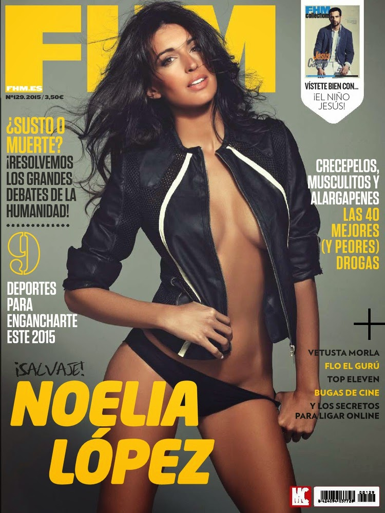 Model @ Noelia López - FHM Spain, March 2015
