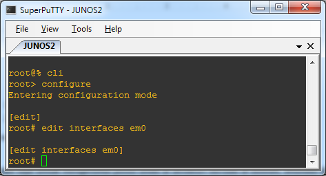Terminal SuperPutty - Junos