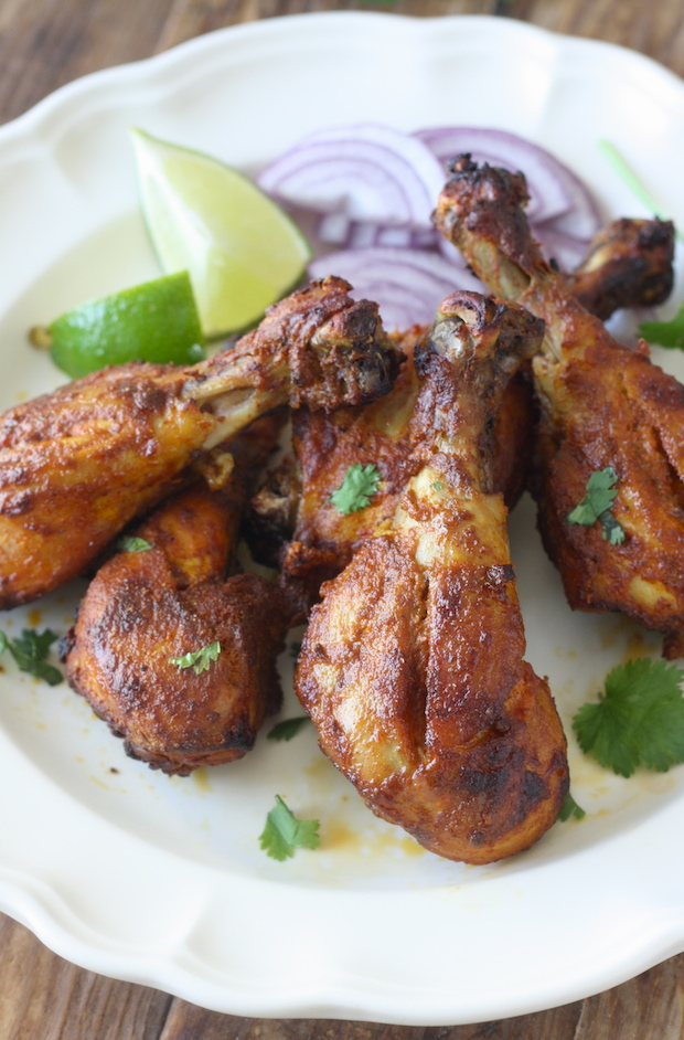 Tandoori chicken drumsticks recipe by SeasonWithSpice.com