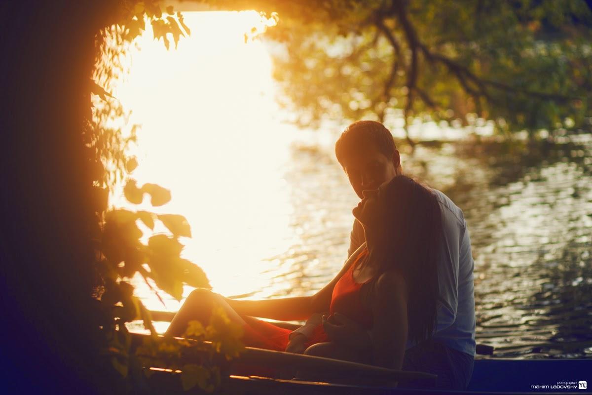 фотосессия в лучах закатного солнца