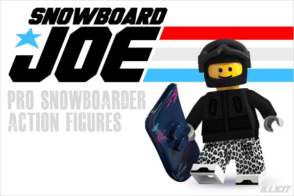 Toy snowboarders chuckbuddie Figures Green//Blue//Red//Orange NEW