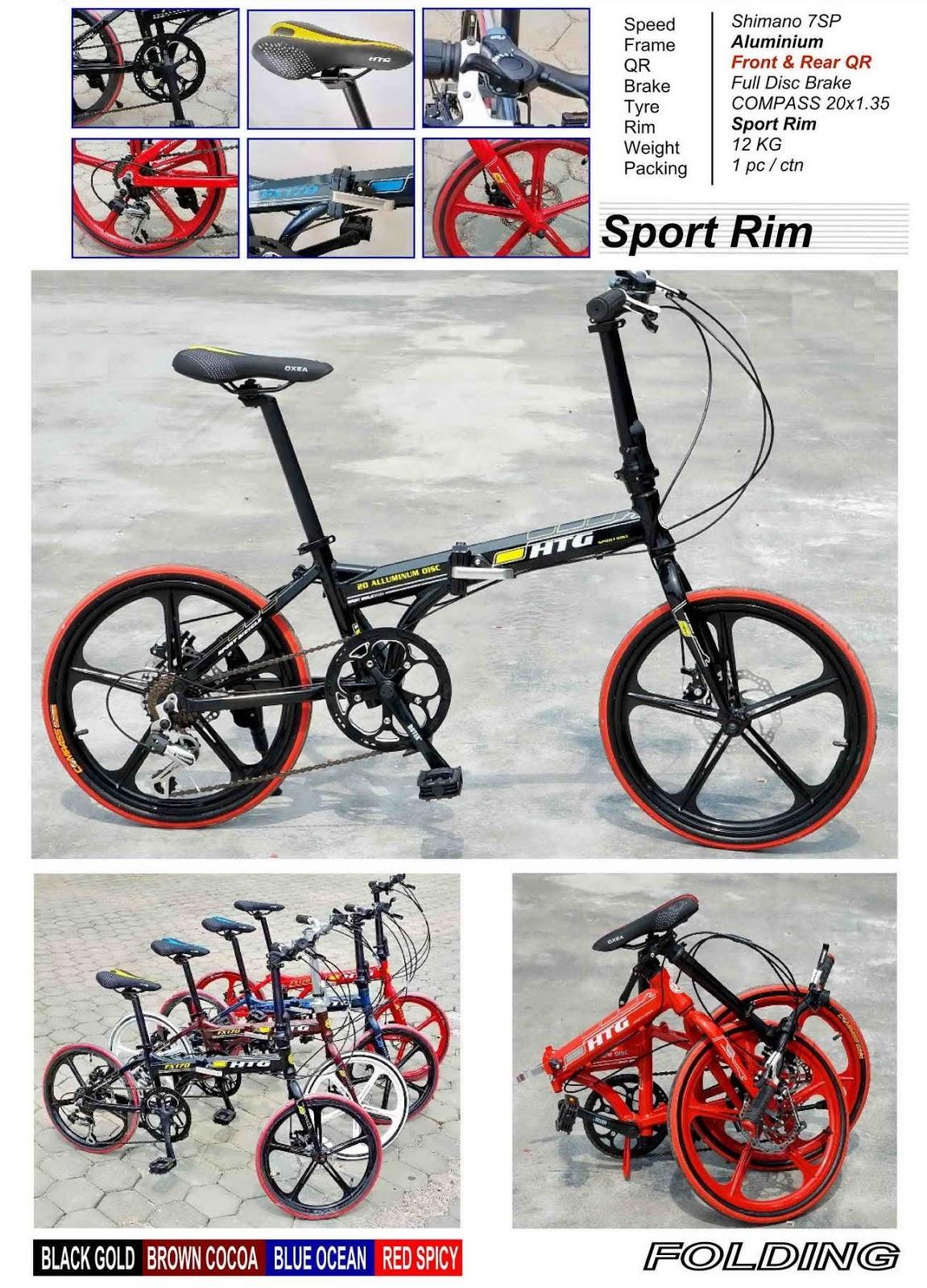 Choo Ho Leong Chl Bicycle 20 Htg Sport Rims Folding Bike