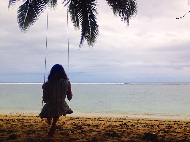 Beach swing in Rarotonga