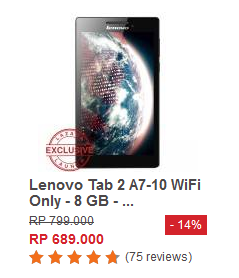 Lenovo Tab 2 A7-10 WiFi Only - 8 GB