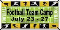 Football Camp Banner