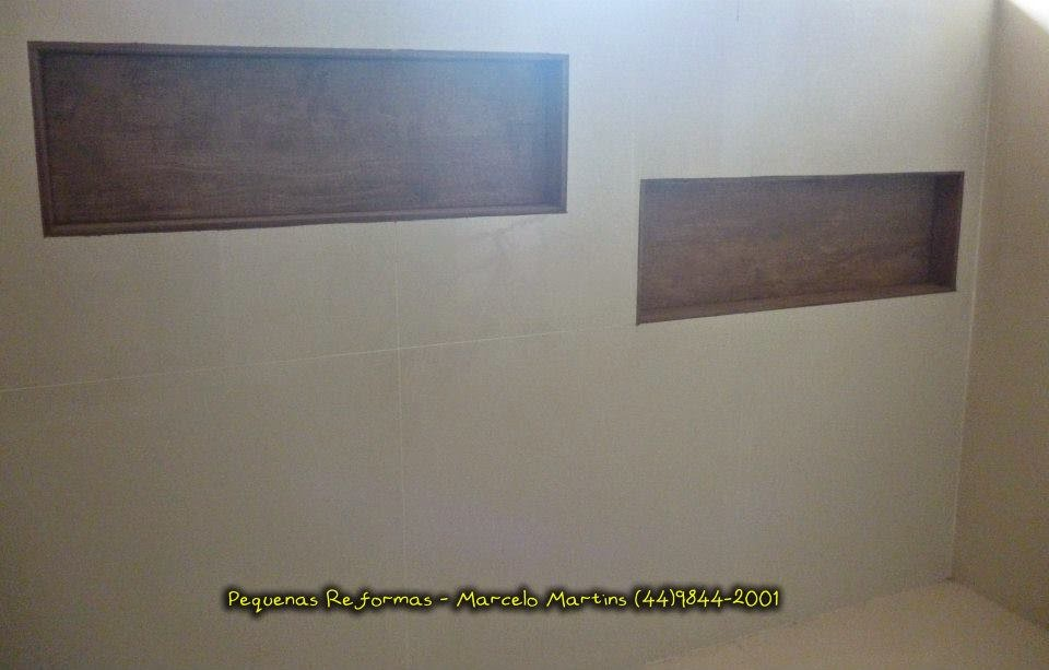 Azulejista e Pedreiro Maringá  Pequenas Reformas Nichos de Banheiros -> Nicho Para Banheiro De Porcelanato
