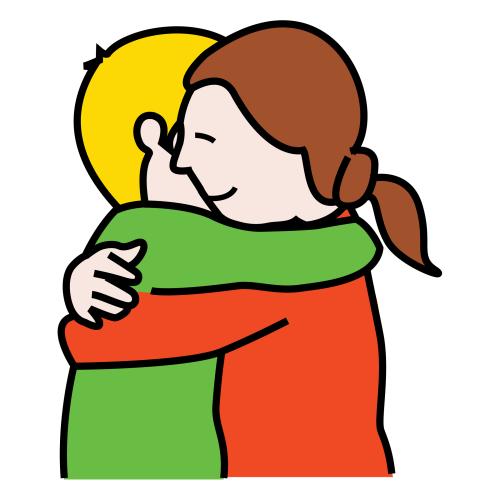 Dibujos de dos personas abrazandose - Imagui