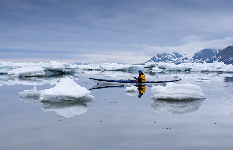 kayaking, expedition, Svalbard