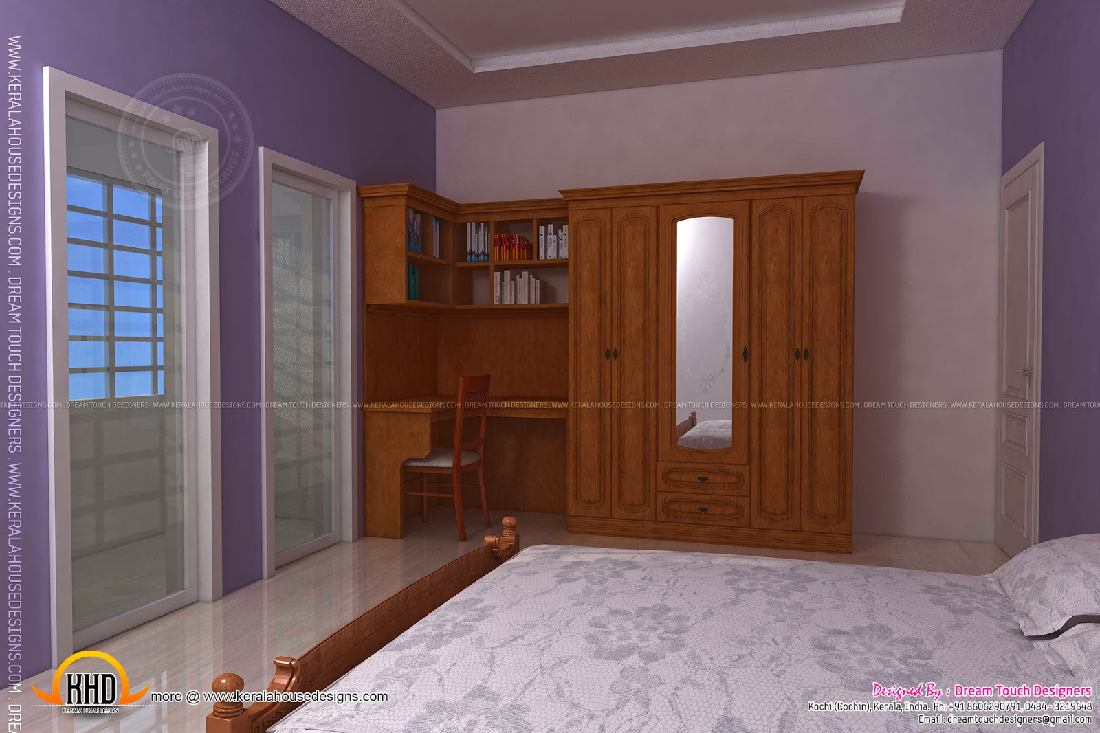 December 2013 kerala home design and floor plans for Bedroom designs tamilnadu