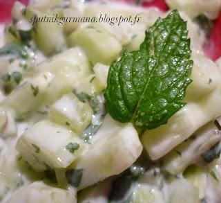 Огуречный салат с мятой