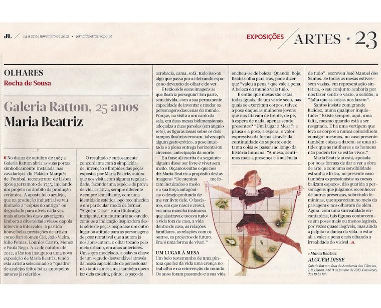 Rocha de Sousa - Jornal de Letras