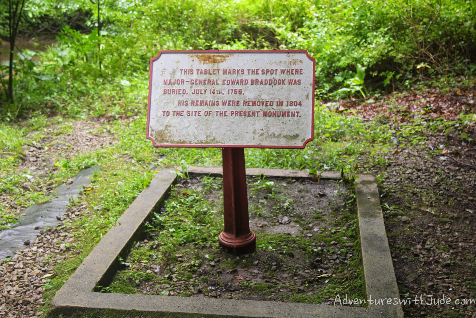 General Edward Braddock grave