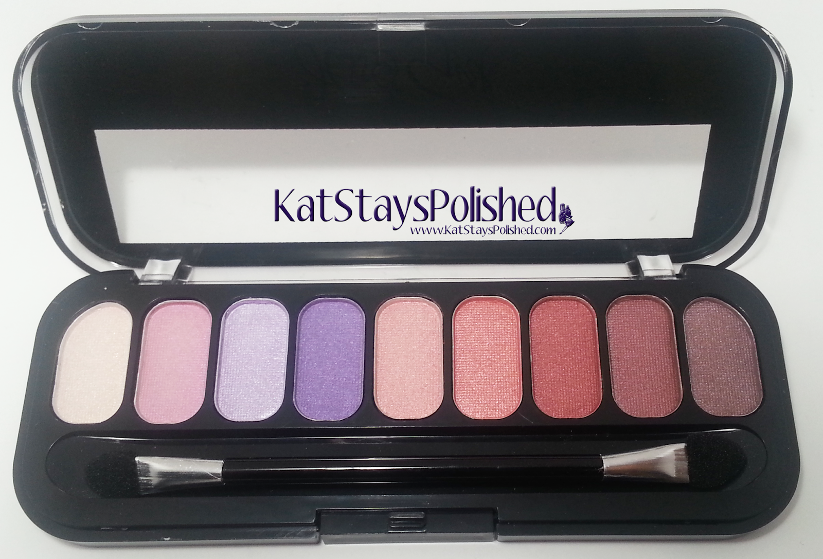 Jesse's Girl 9 Pan Eye Shadow Compact - Tickled Pink | Kat Stays Polished