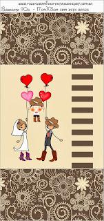 Boda Cowboy: Etiquetas para Imprimir Gratis.