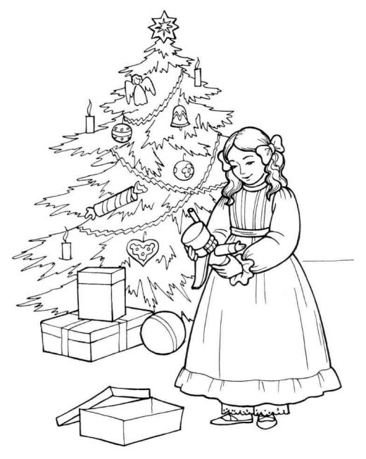 simple nutcracker coloring pages - photo#24